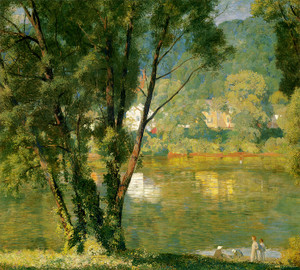 Art Prints of Riverbanks, Milford by Daniel Garber