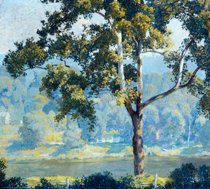 Art Prints of Along the Delaware by Daniel Garber
