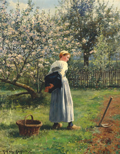 Art Prints of In the Orchard by Daniel Ridgway Knight