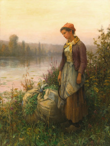 Art Prints of Twilight by Daniel Ridgway Knight