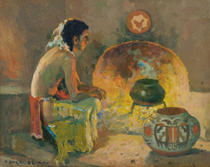 Art Prints of Firelight by Eanger Irving Couse
