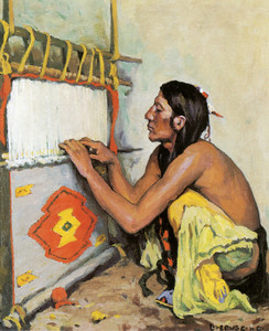 Art Prints of The Weaver by Eanger Irving Couse