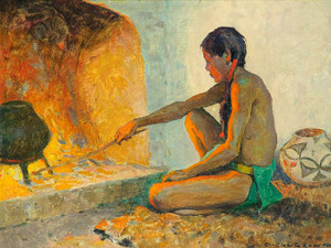 Art Prints of Pueblo Fireplace by Eanger Irving Couse