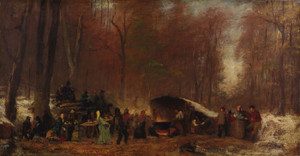 Art Prints of A Different Sugaring Off by Eastman Johnson