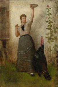 Art Prints of Feeding the Turkey by Eastman Johnson