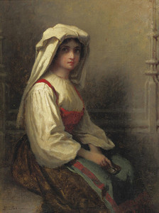 Art Prints of The Bohemian Girl by Eastman Johnson