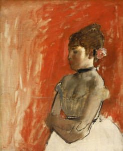 Art Prints of Ballet Dancer with Arms Crossed by Edgar Degas