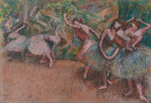 Art Prints of Ballet Scene by Edgar Degas