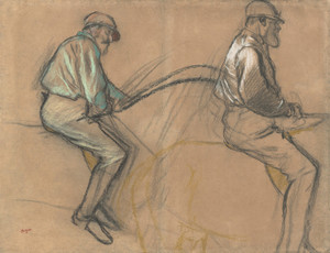 Art Prints of Two Studies of a Jockey by Edgar Degas