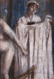 Art Prints of Toilette, After the bath by Edgar Degas