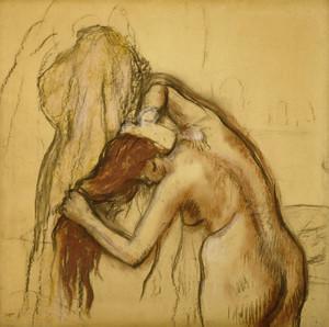 Art Prints of Woman Drying Herself by Edgar Degas
