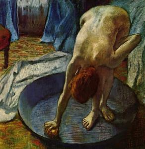 Art Prints of Woman in the Bath Tub by Edgar Degas