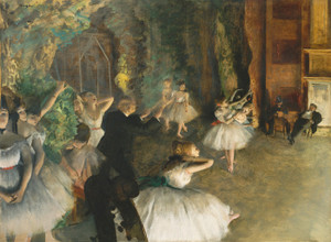 Art Prints of The Rehearsal Onstage II by Edgar Degas