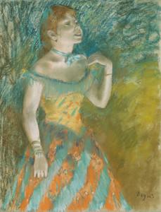 Art Prints of The Singer in Green by Edgar Degas