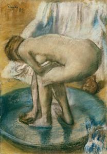 Art Prints of Woman Bathing in a Shallow Tub by Edgar Degas