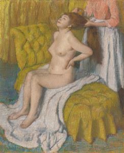 Art Prints of Woman Having Her Hair Combed by Edgar Degas