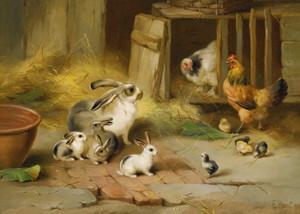 Art Prints of Farmyard Offspring by Edgar Hunt