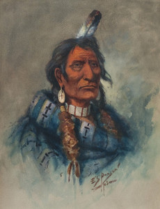 Art Prints of Chief Charlo, 1903 by Edgar Paxson