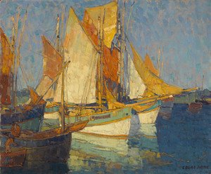 Art Prints of Sunlight on Brittany Boats by Edgar Payne