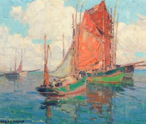 Art Prints of Tuna Boats by Edgar Payne
