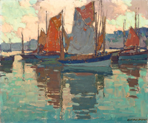 Art Prints of The Harbor Douarnenez, France by Edgar Payne