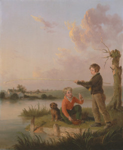 Art Prints of The Young Anglers by Edmund Bristow
