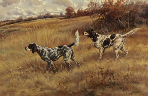 Art Prints of Two Setters in a Field by Edmund Henry Osthaus
