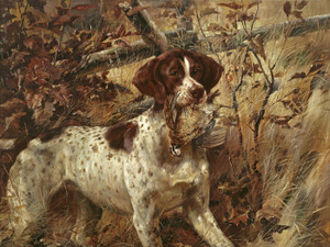 Art Prints of Pointer Soft Mouthing a Quail by Edmund Henry Osthaus