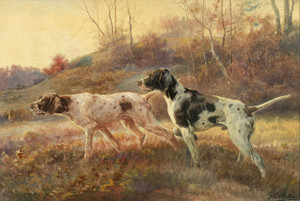 Art Prints of Two Pointers in the Field by Edmund Henry Osthaus