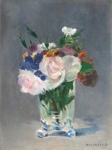 Art Prints of Flowers in a Crystal Vase by Edouard Manet