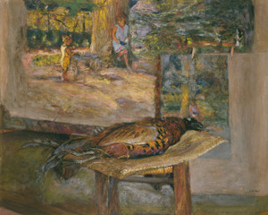 Art Prints of Interior with Paintings and a Pheasant by Edouard Vuillard