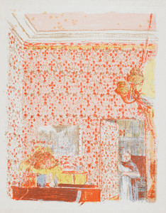 Art Prints of Drapes with Roses by Edouard Vuillard