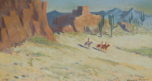 Art Prints of Riders in the Canyon by Edward Borein