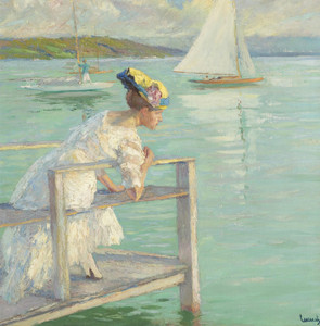 Art Prints of On the Dock by Edward Cucuel