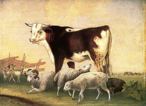 Art Prints of James Cornell's Prize Bull, 1846 by Edward Hicks