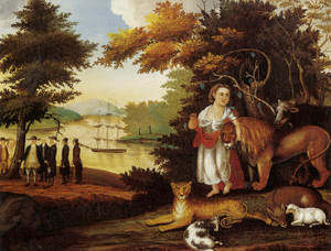 Art Prints of Peaceable Kingdom, 1827 by Edward Hicks