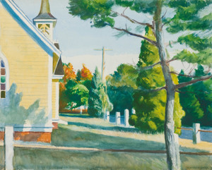 Art Prints of Church in Eastham by Edward Hopper