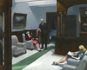 Art Prints of Hotel Lobby by Edward Hopper
