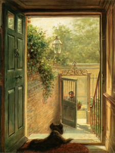 Art Prints of A Philadelphia Doorway 1882 by Edward Lamson Henry