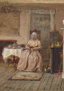 Art Prints of Aunt Hannah Tyson of Germantown, Pennsylvania by Edward Lamson Henry