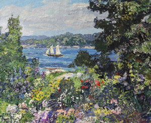 Art Prints of Boothbay Garden by Edward Redfield