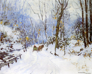 Art Prints of Cuttalossa Road, Early Morning by Edward Redfield