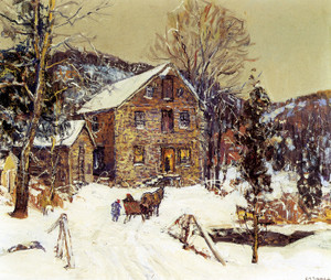 Art Prints of Sleigh Ride to the Grist Mill by Edward Redfield