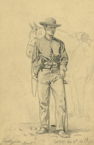 Art Prints of Cavalryman Escort (20641L) by Edwin Forbes