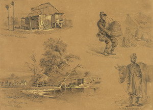 Art Prints of Gone Off with the Yanks and Other Sketches (20764L) by Edwin Forbes