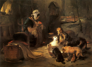 Art Prints of A Highland Breakfast by Edwin Henry Landseer