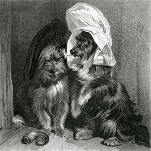 Art Prints of Comical Dogs by Edwin Henry Landseer