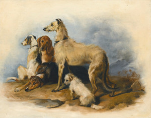 Art Prints of Highland Hounds by Edwin Henry Landseer