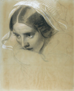Art Prints of Mother and Child, a Sketch for the Flood by Edwin Henry Landseer