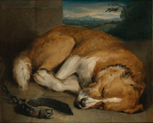 Art Prints of Sleeping Dog by Edwin Henry Landseer